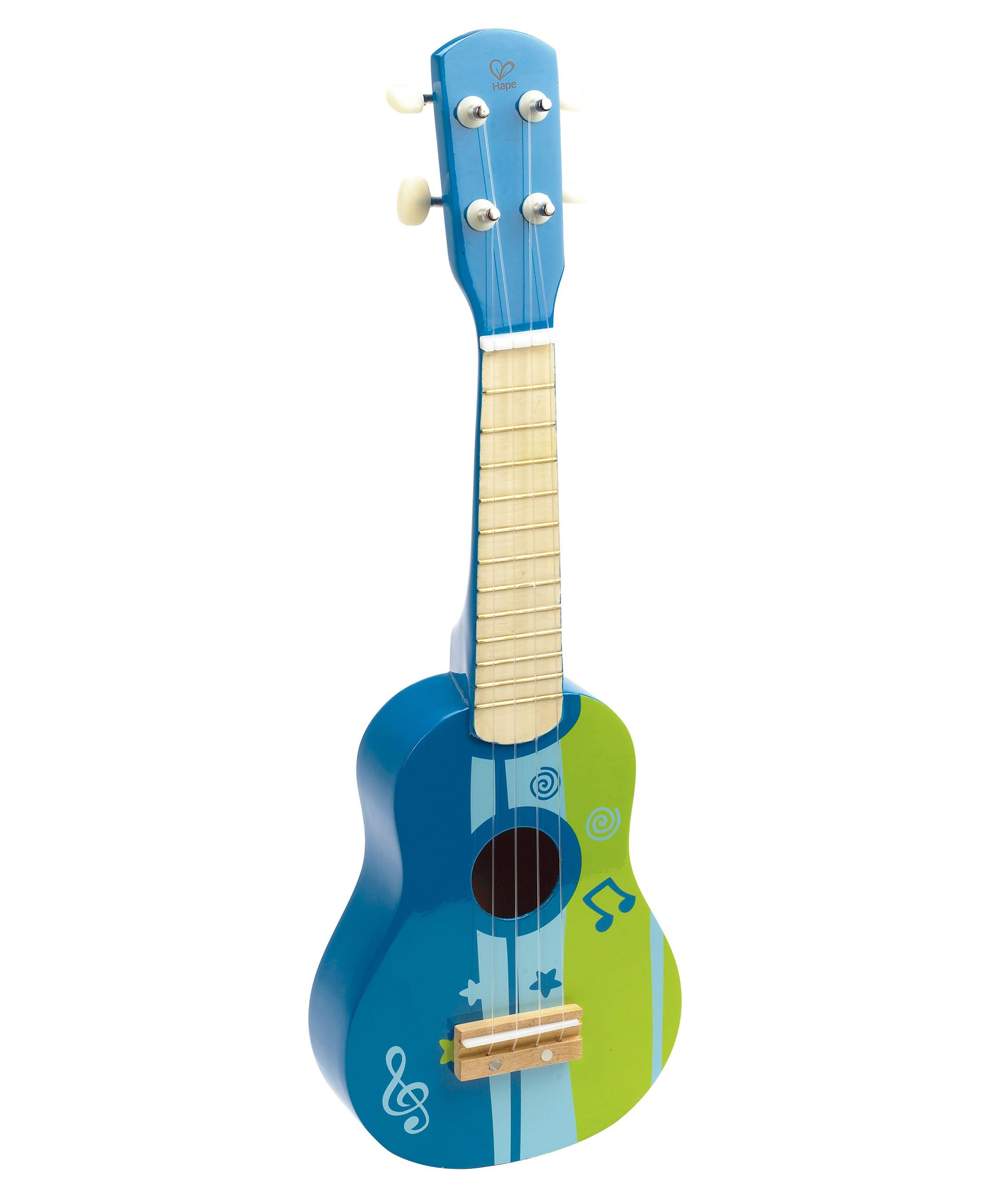 Hape Kid's Wooden Toy Ukulele in Blue