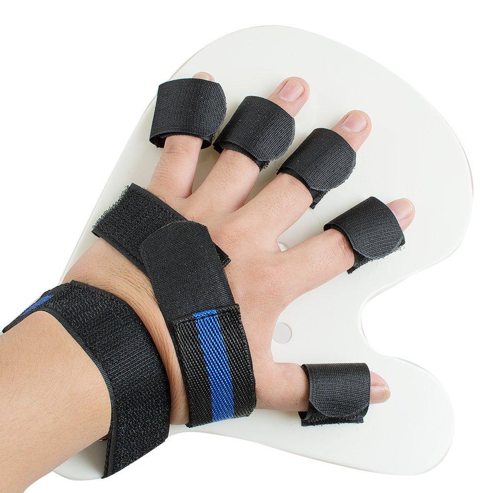 Jinon Finger Orthotics,Finger Training Board Finger Splint Fingerboard,Finger Training Device,for Stroke,Hemiplegia,Apoplexy,Traumatic Brain Injury Men Women(Black,Left Hand)
