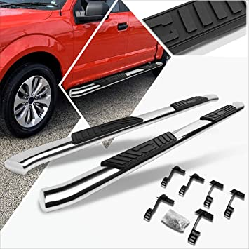 "FOR 15-18 FORD F-150//SUPER DUTY CREW CAB CHROME 3/"" SIDE STEP BARS RUNNING BOARD"