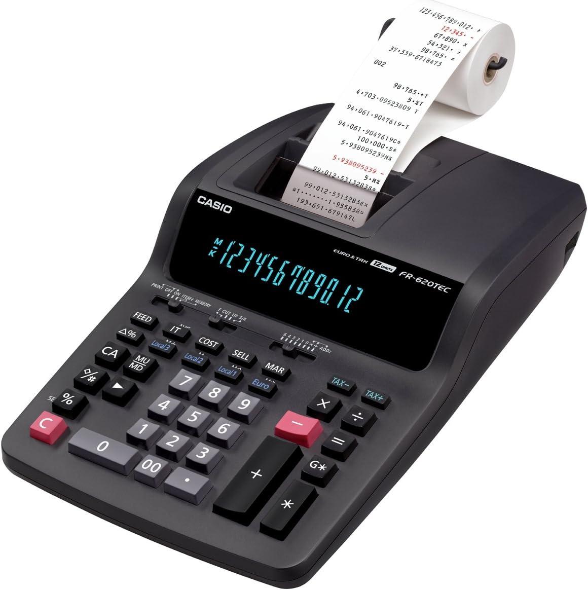 Casio FR-620TEC - Calculadora impresora: Amazon.es: Oficina y ...