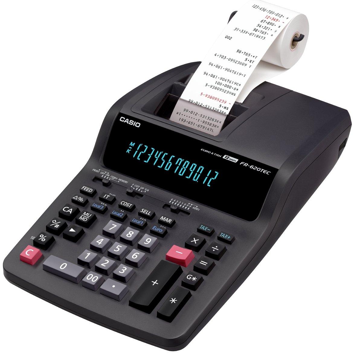 CASIO FR-620TEC Tischrechner professionell mit Paralleldruck, 12-stellig, umfangreiche Funktionen