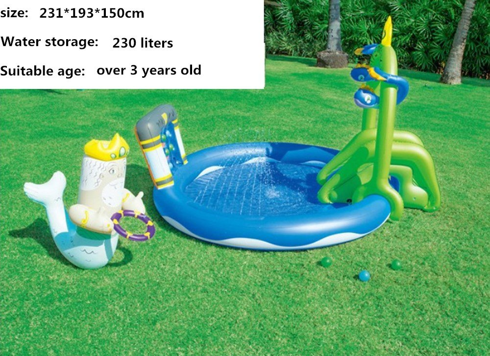 CHRRI Kinder Pool Baby Pool Infant Verdickung Angeln Sand Pool Aufblasbare Marine Ball Pool D