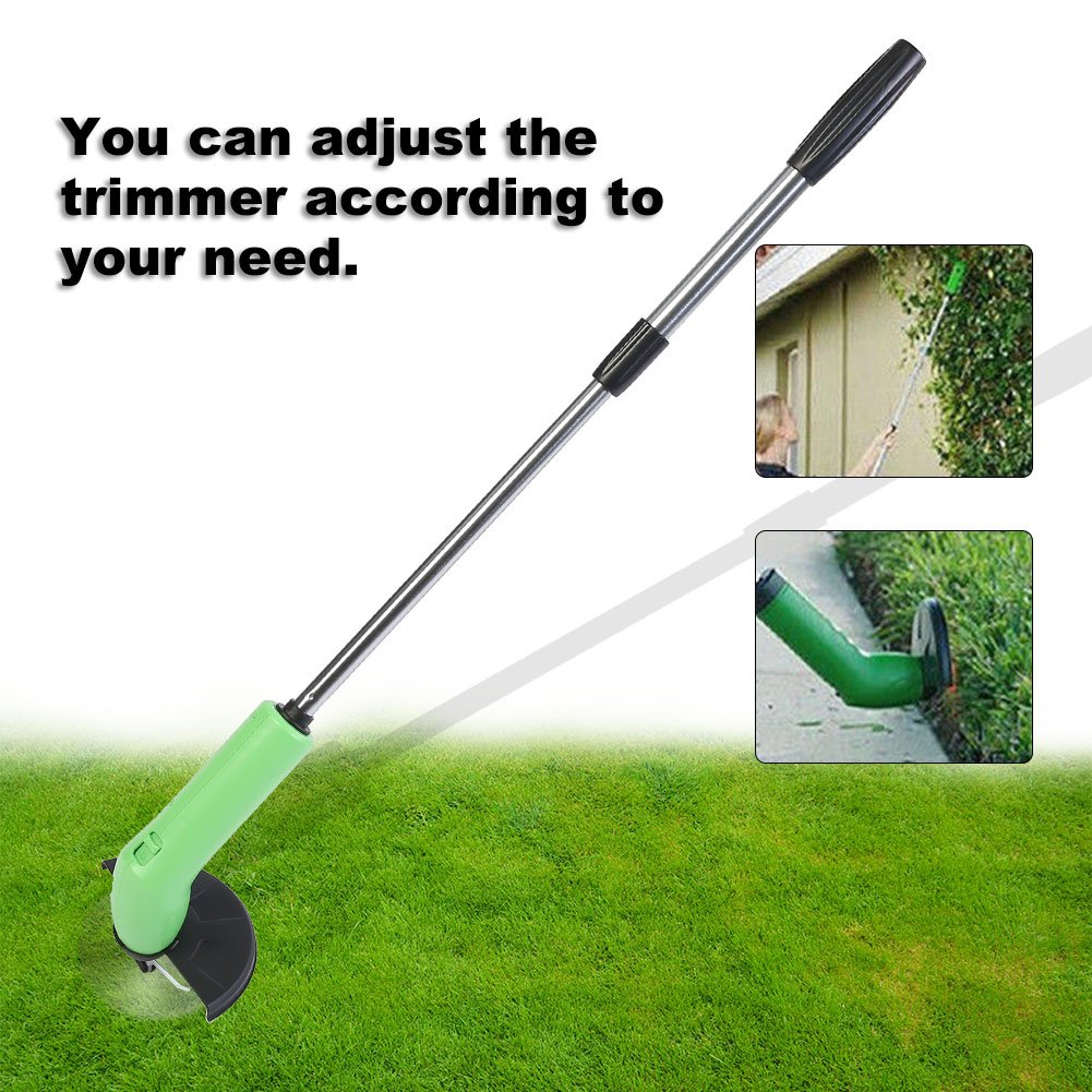 Yosooo Grass Trimmer, Portable Handheld Cordless Lawn Garden Edging Decor Tool Grass Cutter Mower