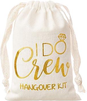 Set of 20 I Woke Up Like This Hangover Kit Bag Bridesmaid Gift Bachelorette Party Favours Muslin Wedding Bag
