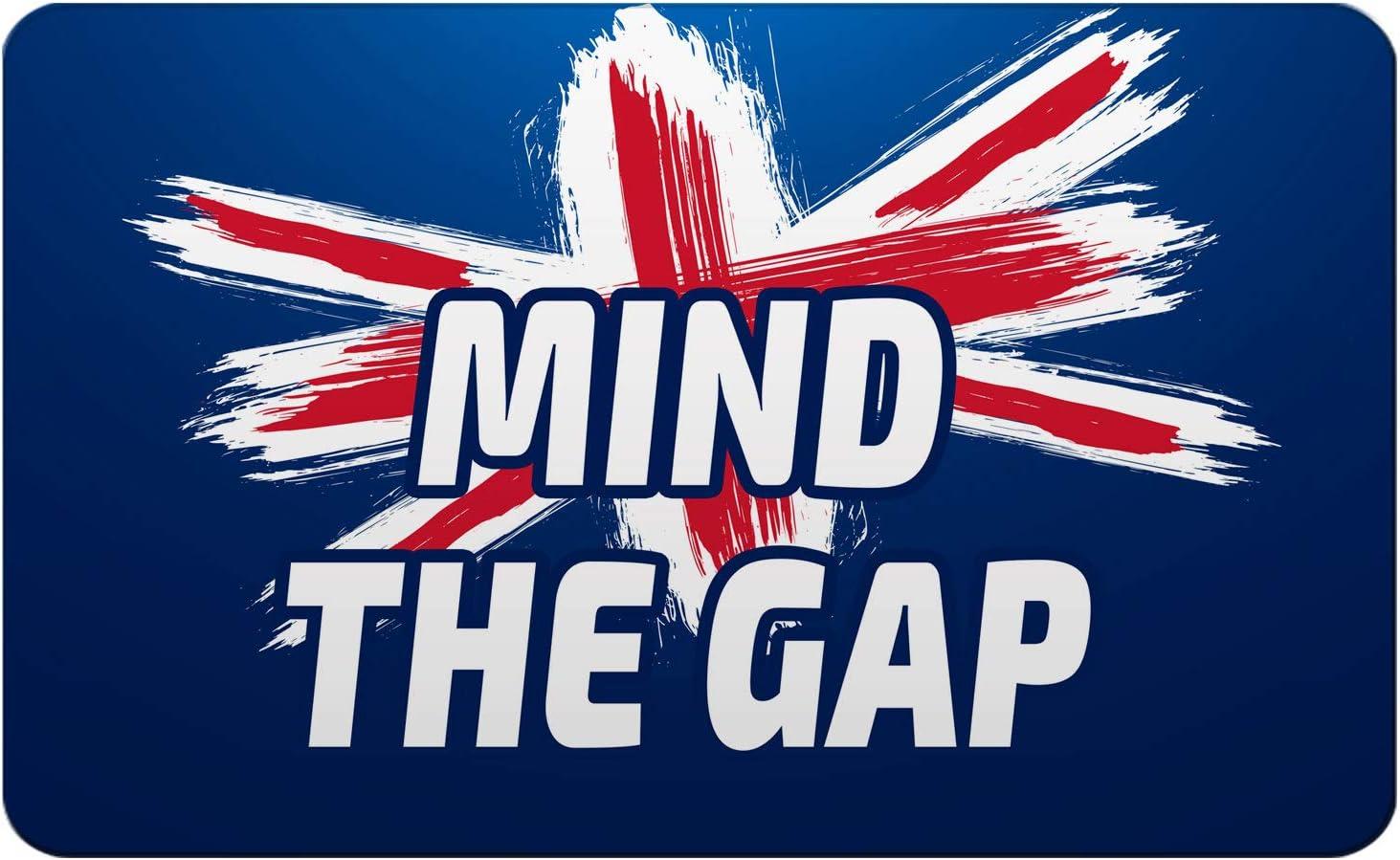Makoroni - MIND THE GAP British England UK Des#2 Refrigerator Wall Magnet 2.75x3.5 inc