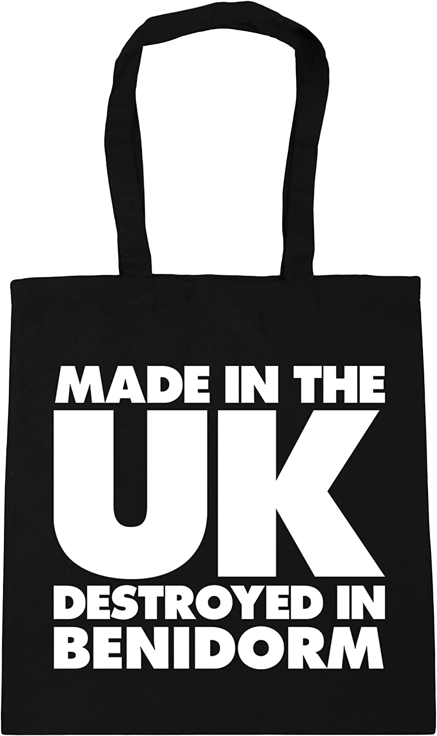 10 litres Made in the UK Destroyed in Aiya Napa Tote Shopping Gym Beach Bag 42cm x38cm