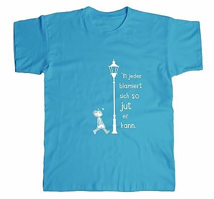 7993c46437da25 Spreeklamotte Berlin Männer T-Shirt - Blamiert - Berliner Sprüche Statement  Herren Shirt vom Label Cooles Männershirt  Amazon.de  Bekleidung