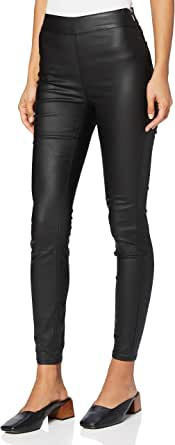 Marca Amazon - find. Pu Coated Pantalones Mujer