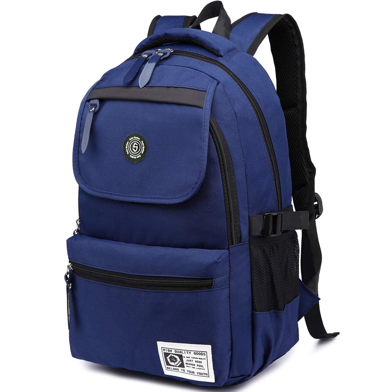 ordinateur portable Large bleu Super Modern Sac /à dos unisexe en nylon imperm/éable pour randonn/ée sport