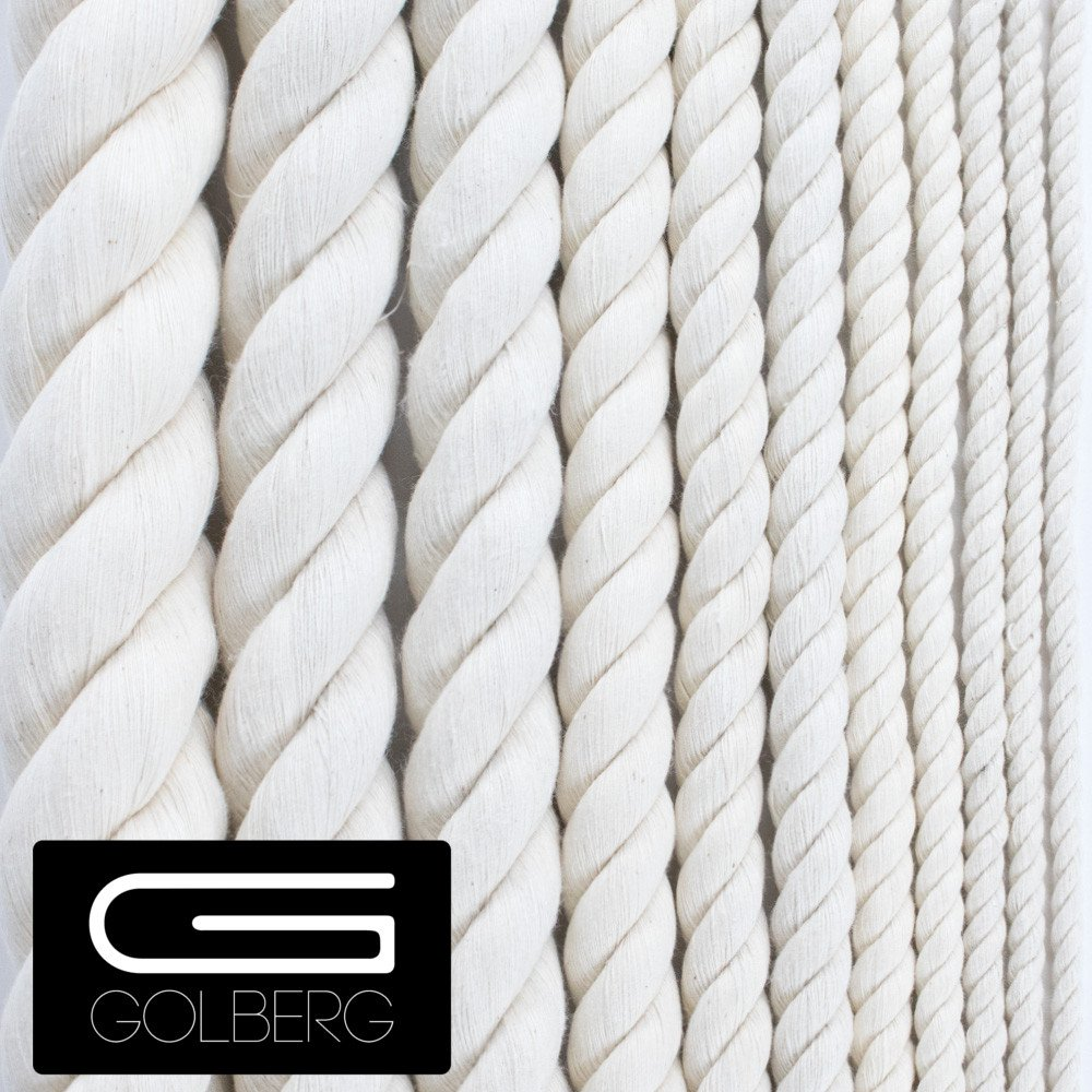 1//2 GOLBERG Twisted 100/% Natural Cotton Rope 5//32 1//4 1 1//2 Several Lengths to Choose White Cotton Rope 3//8 1 5//8 1 1//4 3//4 3//16 7//32 5//16