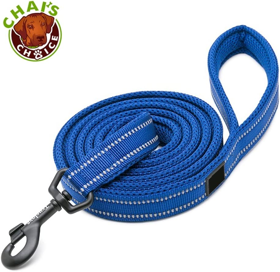Chai's Choice Pet Products Padded 3M Reflective Outdoor Adventure Dog Leash