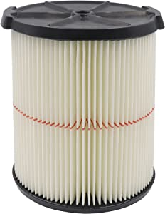 Replacement Filter For Craftsman - 009-38754 CRAFTSMAN CMXZVBE38754 Red Stripe General Purpose Wet Dry Vac Replacement Filter for 5 to 20 Gallon Shop Vacuums