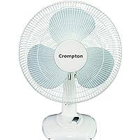 Crompton Greaves HiFlo Eva High Flo Eva 400mm Table Fan (White)