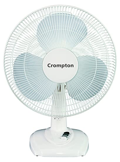 72453ae0d Buy Crompton Greaves High Flo Eva 400mm Table Fan (White) Online at Low  Prices in India - Amazon.in