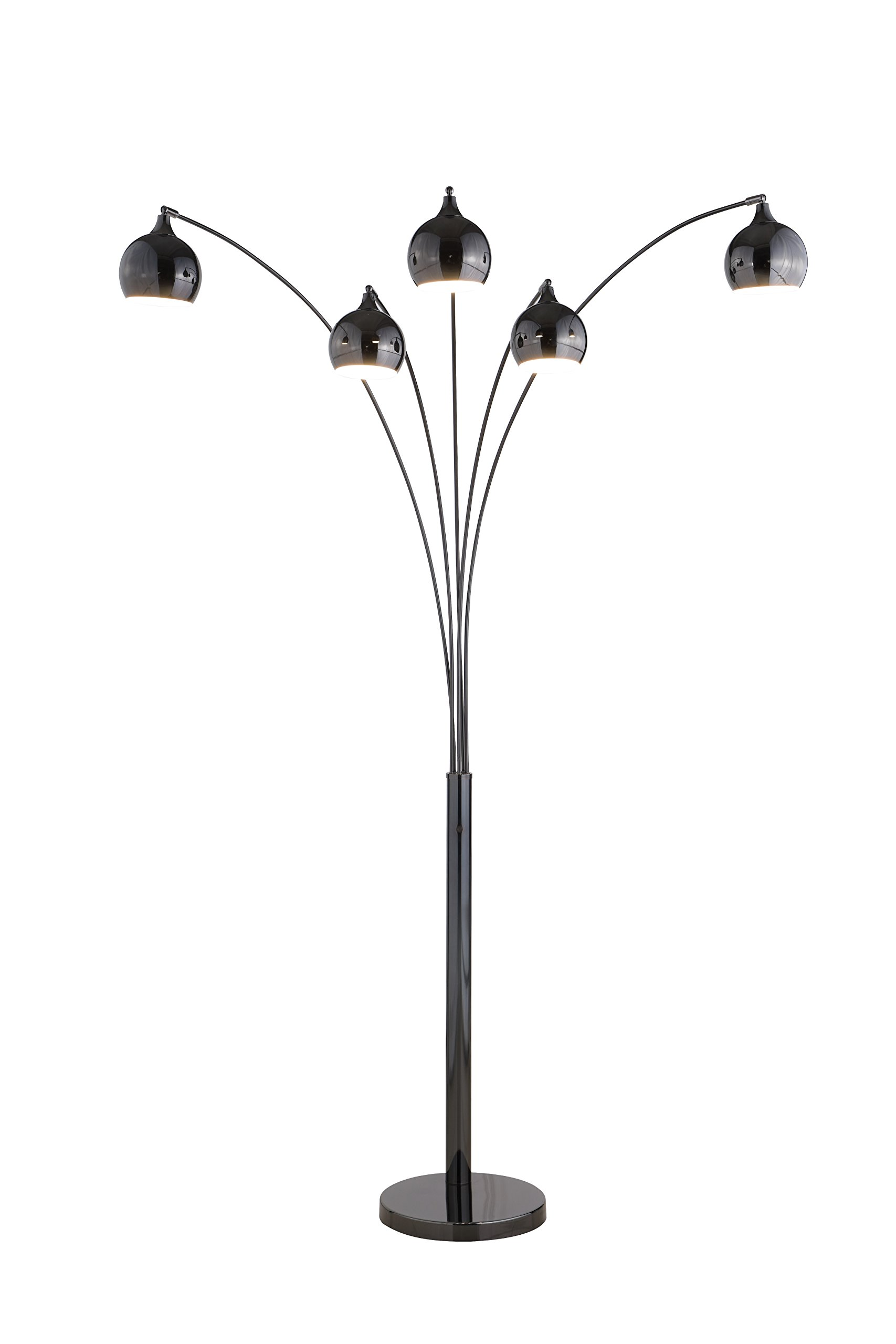 Artiva USA LED9656FJB Amore 86'' 5-Arched Floor Lamp with Dimmer Jet Black