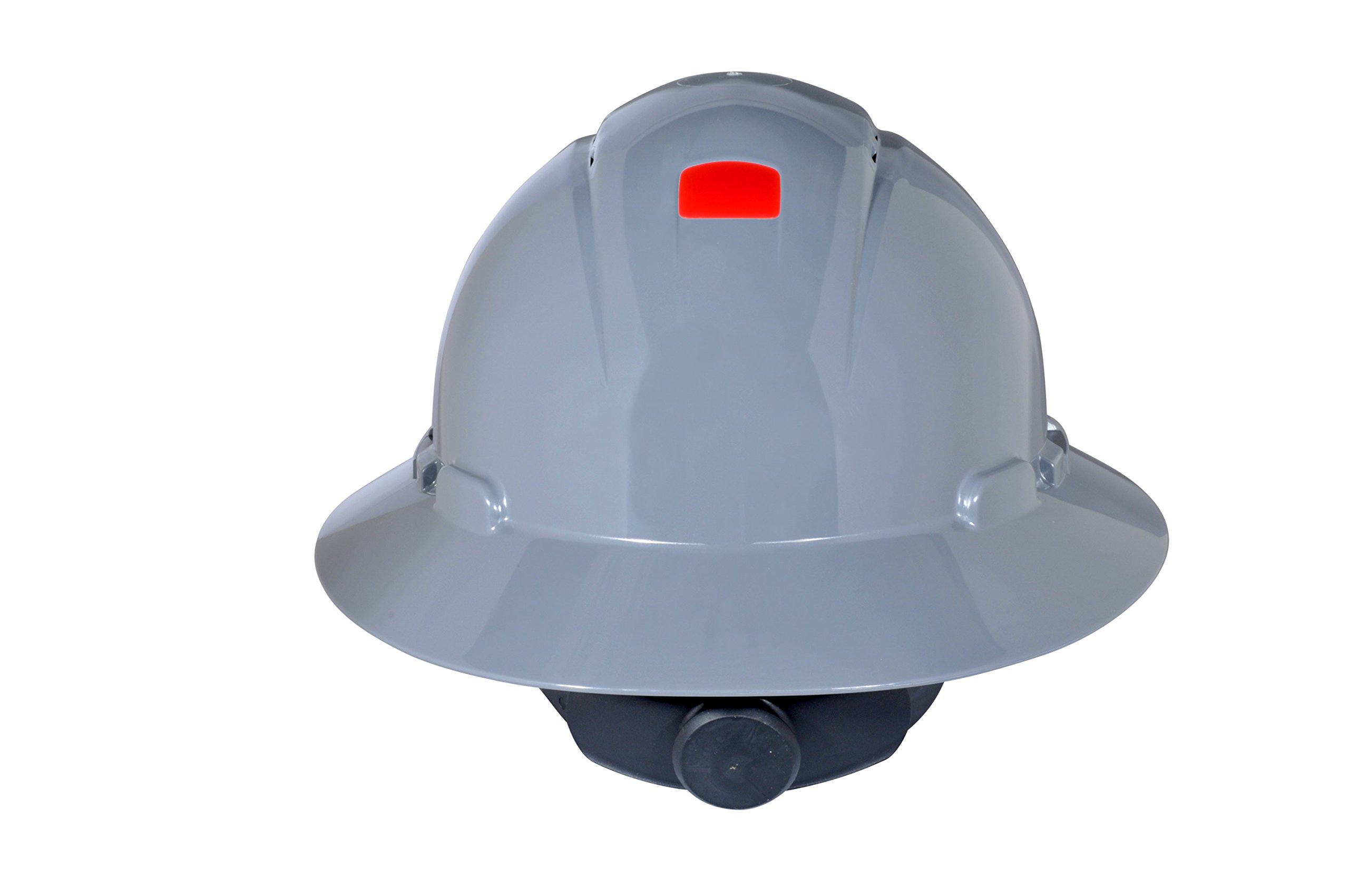 3M Full Brim Hard Hat H-808V-UV, 4-Point Ratchet Suspension, Vented and Uvicator, Gray