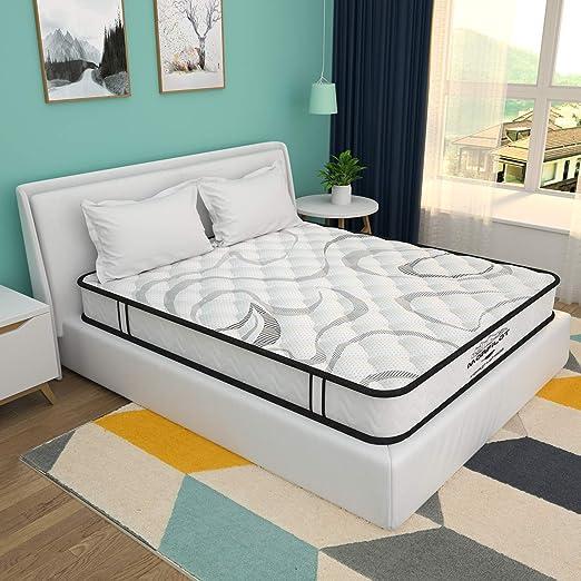 Amazon Com 8 Inch Memory Foam Mattress Hybrid Innerspring