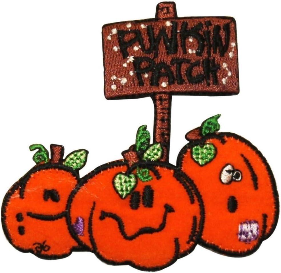 Amazon Com Id 0830 Cartoon Pumpkin Patch Halloween Farm Harvest Embroidered Ironon Applique