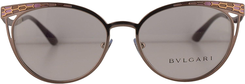 Bulgari BV2186 de las lentes 53-17-140 w/lente clara demostración 2021 BV 2186 mujer Rosa de color marrón claro Grande: Amazon.es: Ropa y accesorios