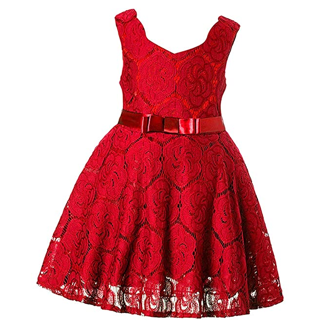 Dolity Vestido de Niñas Princesa Retro Vintage Estilo Ropa Bonita Patrón de Flores Hermosa Elegante Apariencia