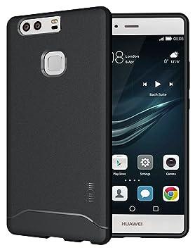 Huawei P9 Plus Funda, TUDIA ultra delgado Mate Completa ARCH TPU caso de parachoques de protección Funda Carcasas para Huawei P9 Plus (Negro)