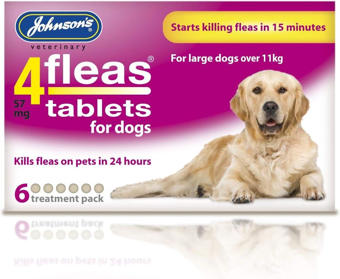 Johnsons 4 Fleas Pantalla Spot de Perro Cachorro 6 Mes protección de pulgas