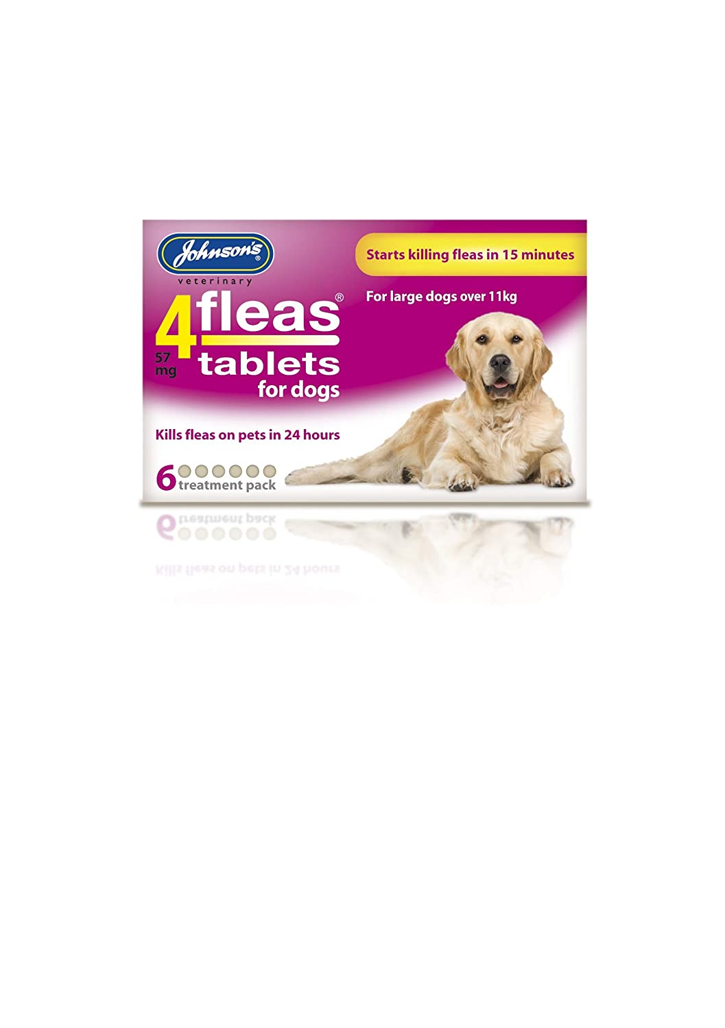 Johnsons Vet 4fleas Tablets for Puppies & Small Dogs 3 Treatment Pack - D091: Amazon.es: Productos para mascotas