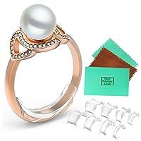 Anillo de ajuste de tamaño para anillos sueltos para cualquier anillo, anillo reductor de tamaño, espaciador protector (inserto (8 piezas de 8 tamaños), Insert(8pcs-8Sizes), 1