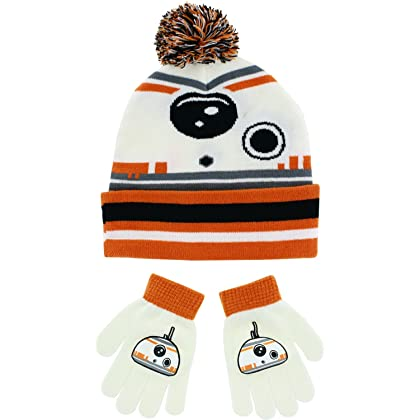 c830c0f0153 Disney Star Wars BB-8 Cuffed Pom Beanie with Gloves