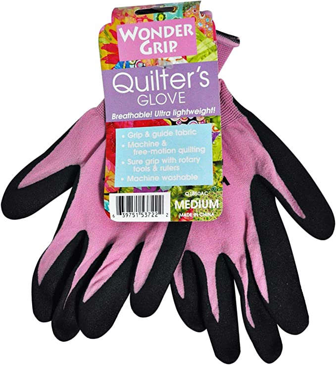 Small 5 Pairs Quilting Gloves for Free-Motion Sewing,Gloves Designed for Quilting,Crafting,Sewing