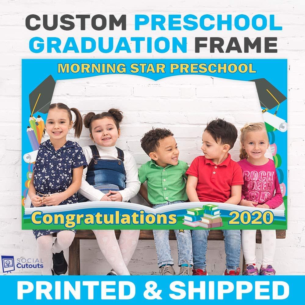 Graduation backdrop Festive photo booth prop Printed Confetti photo prop Class of selfie frame Graduation photo booth frame