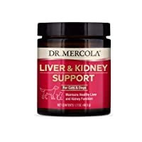 Dr. Mercola Liver and Kidney Support for Pets (1.70 oz. per jar), Non GMO, Gluten Free, Soy Free