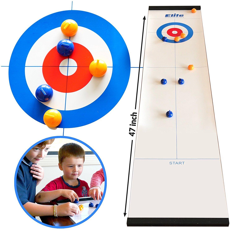 Elite Sportz Curling Juegos de mesa con la familia Juegos divertidos para