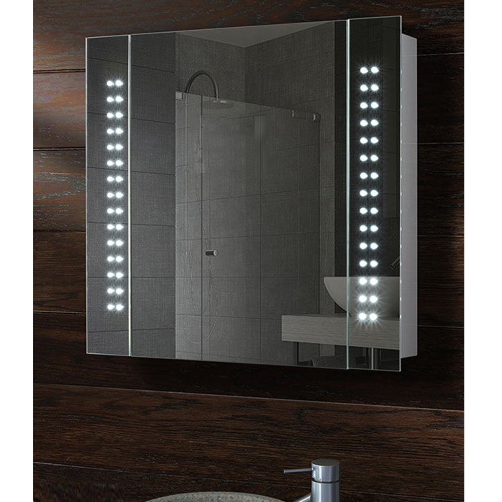 Armoire salle de bain allibert seville ensemble cm with for Miroir winners