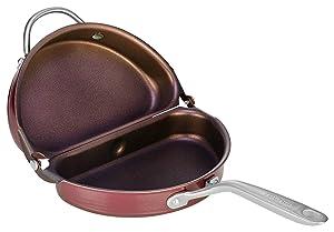TECHEF - Frittata and Omelette Pan, Coated with New Teflon Select/Non-stick Coating (PFOA Free) (Purple)