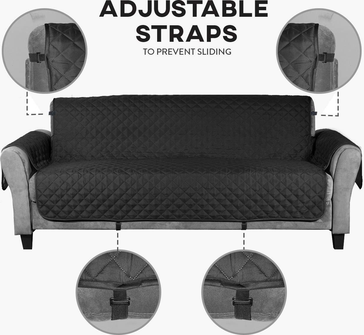 Le Benton Funda de sofá Reversible, 3 Correas ...