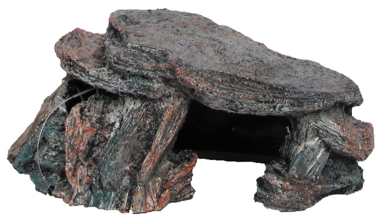 Nicepets - Adorno para decoración de acuario, pecera y terrario de resina con forma de cueva e isla para peces, galápagagos y reptiles: Amazon.es: Productos ...