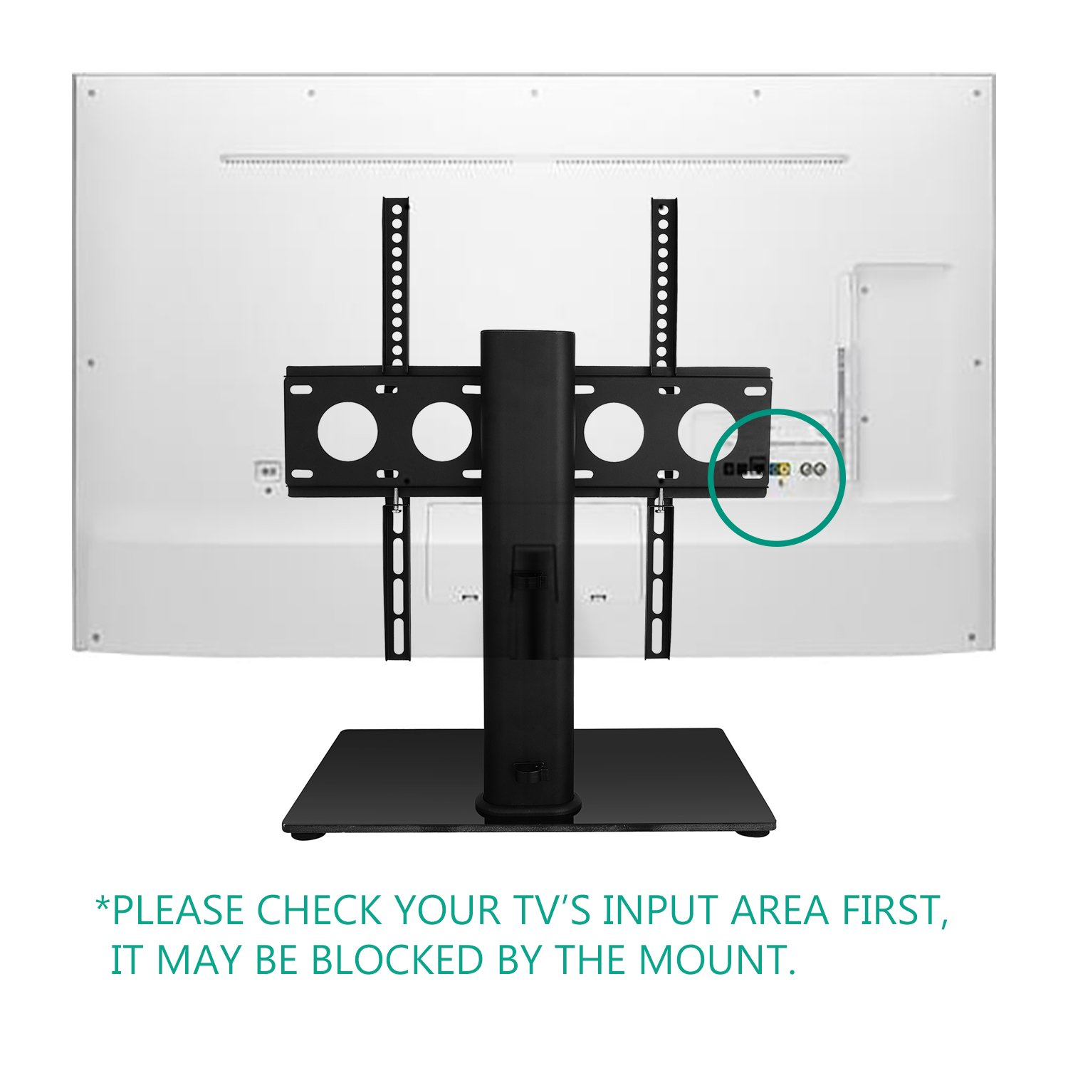 Wali Table Top Tv Stand Glass Base Security Wire Fits Most 32 47 Jrv Monitor Panel Wiring Diagram Inch Led Lcd Oled Plasma Flat Screen Vesa Pattern Up To 400x400 Tvdvd 01