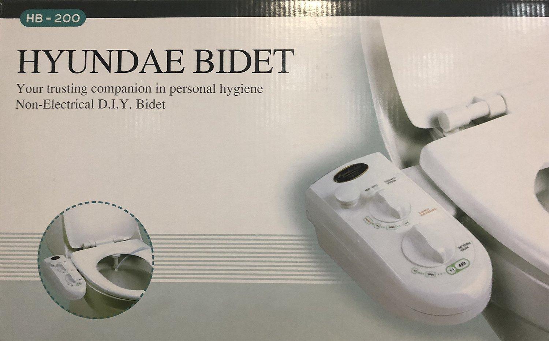 HYUNDAE Bidet HB-200 Hot-Cold Water Non-Electric Toilet Seat ...