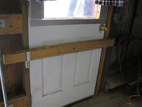 Drop Open Bar Security Door Lock Brackets Fits 2x4 Boards 1 1/8u0026quot;wide & Amazon.com : Drop Open Bar Security Door Lock Brackets Fits 2x4 ...