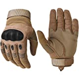 Military Hard Knuckle Tactical Gloves Motorcycle Gloves Motorbike ATV Riding Army Combat Full Finger Gloves for Men Airsoft Paintball