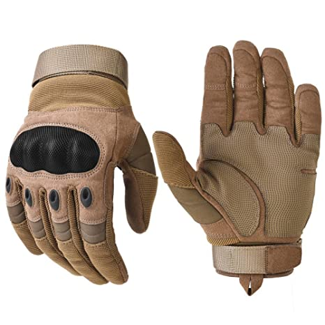 ccf77cdb30b1 Military Hard Knuckle Tactical Gloves Motorcycle Gloves Motorbike ATV  Riding Army Combat Full Finger Gloves for Men Airsoft Paintball