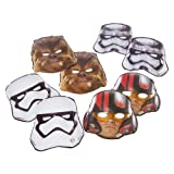 Star Wars Episode VII Masks, 8 Count, Party Supplies Novelty