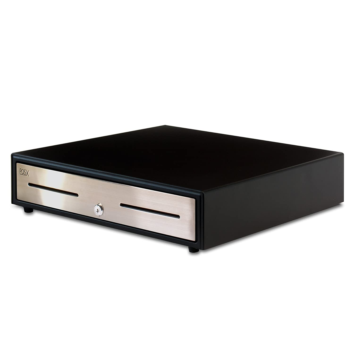 POS-X ION-C18 Cash Drawer, Black, 18.1' x 18.3' x 3.9' Body, Stainless Steel Face ION-C18A-1S 18.1 x 18.3 x 3.9 Body INC