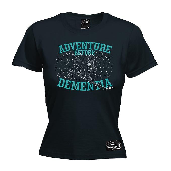 Adventure before Dementia SNOWBOARD Powder Monkeez UK HOODIE hoody birthday gift