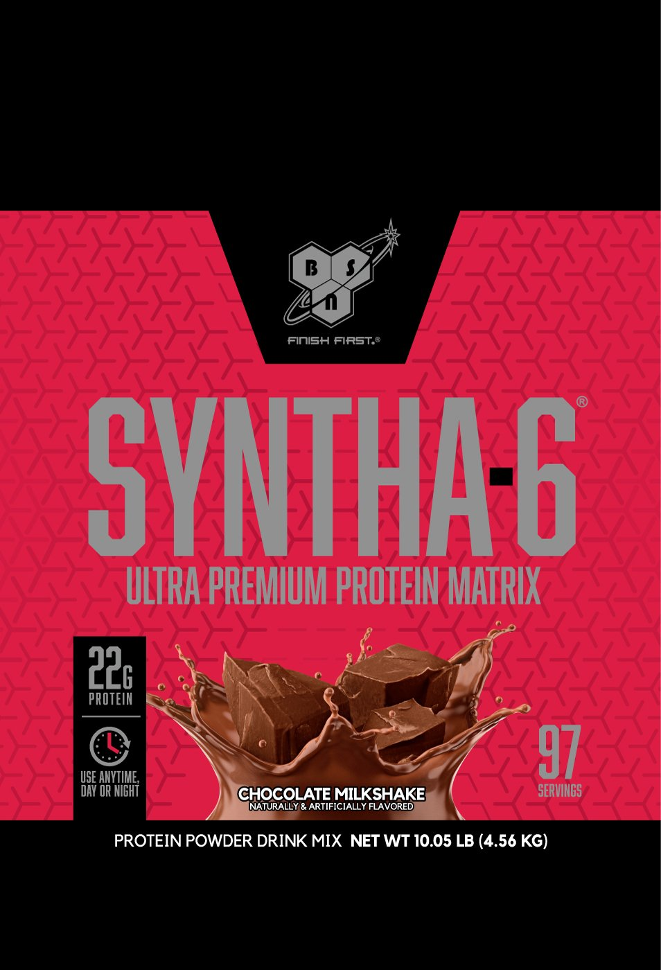 BSN SYNTHA-6 Whey Protein Powder, Micellar Casein, Milk Protein Isolate Powder, Chocolate Milkshake, 97 Servings (Package May Vary) by BSN (Image #3)