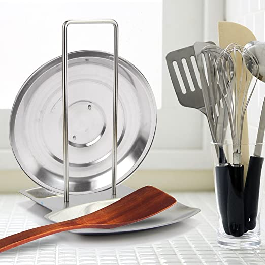 NEVER MAKE A MESS WHILE COOKING WITH #1 BEST SELLING LID AND SPOON REST!