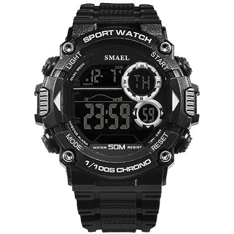 Blisfille Reloj Hombre Ultra Plano Reloj Ultrafino Hombre Reloj 8 Reloj Hombre 46 Mm Reloj Digital