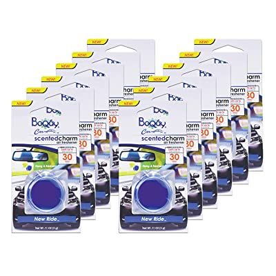 BOQAY Scented Charm, New Ride - Auto Air Freshener - 12 Pack (Lasts Up to 360 Days): Kitchen & Dining