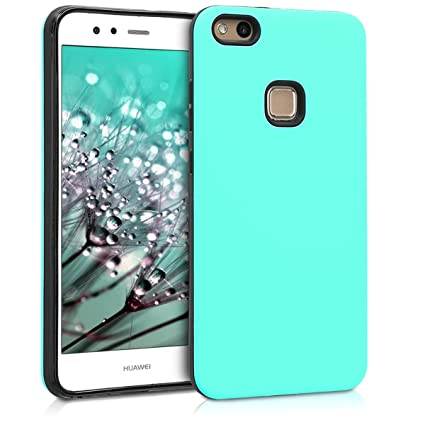 brand new 92a78 9a4e3 kwmobile Full Armor Case for Huawei P10 Lite - Heavy Duty Shockproof  Protective Hybrid Case Cover - Mint Matte